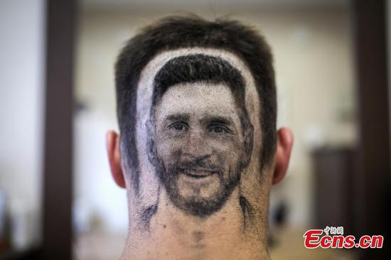 Barber of Serbia snips Lionel Messi 'headshot'