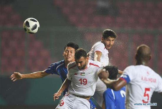 Highlights of Men's Football Group A match at 18th Asian Games in Bekasi, Indonesia