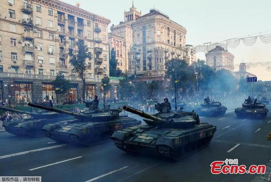 Military parade for Independence Day rehearsed in Kiev