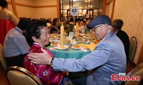 Reunions for separated Korean families in tears, joy